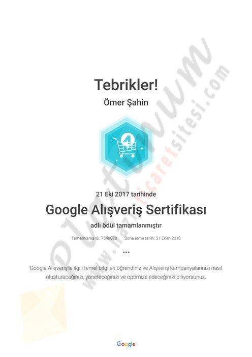 Google Alışveriş Sertifikası Academy for Ads
