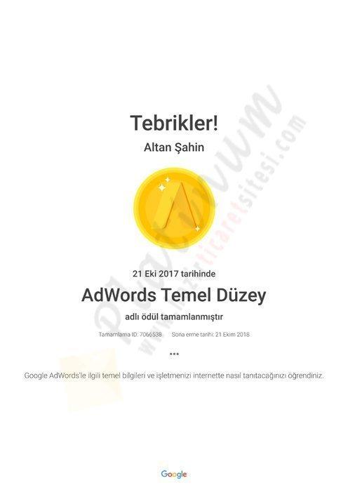 AdWords Temel Düzey Academy for Ads