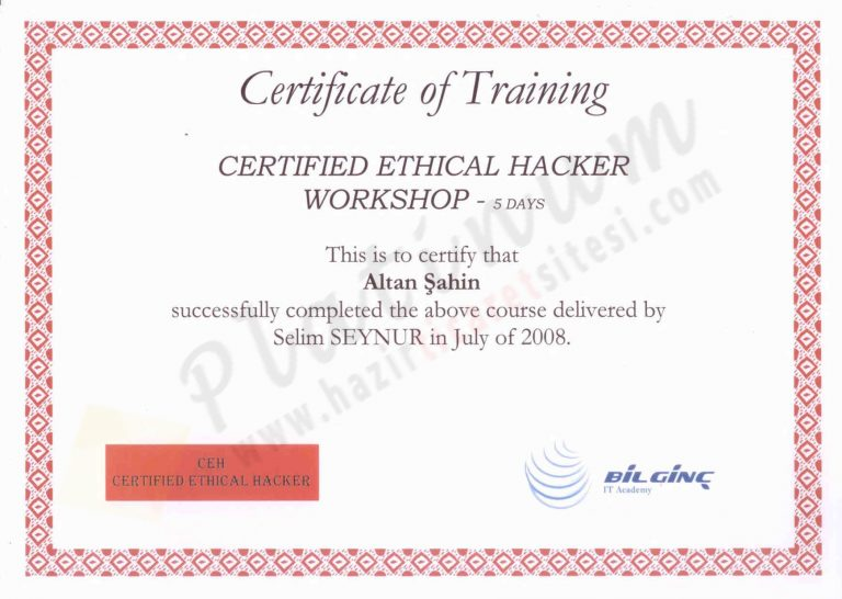 2008 – Certified Ethical Hacker